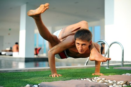 Stretching yoga in Pattaya